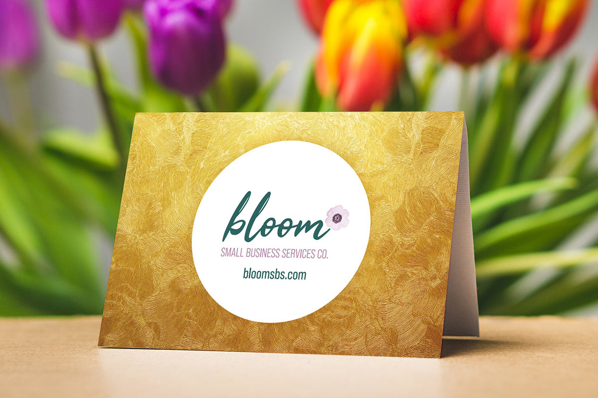 bloom postcard design kennesaw graphic design