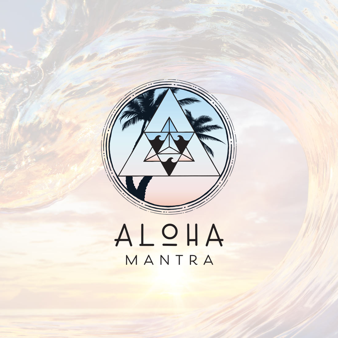 aloha mantra small business logo design hawaii