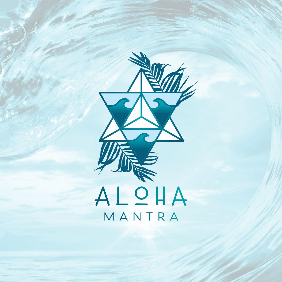 aloha mantra small business music logo design