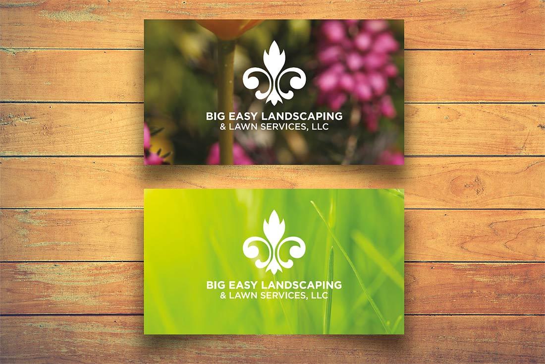 landscaping logo card graphic design kennesaw